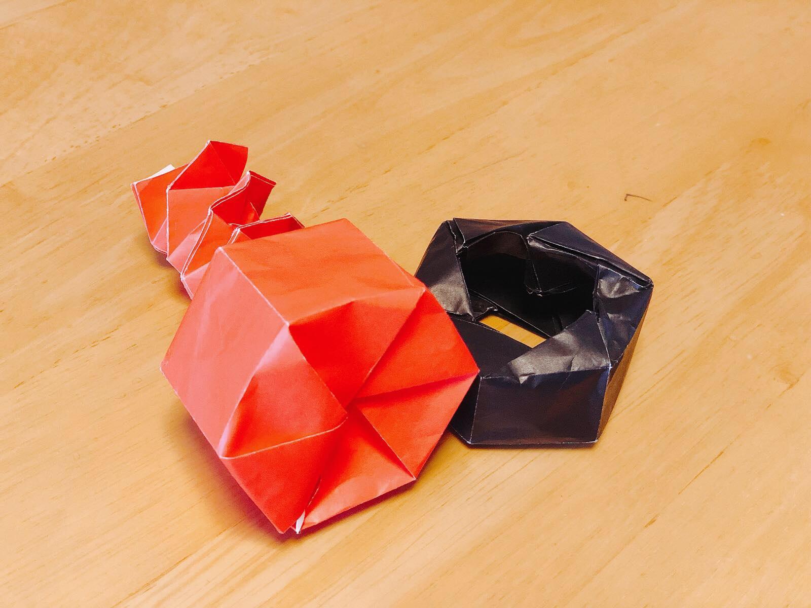 折り紙ナットとボルト