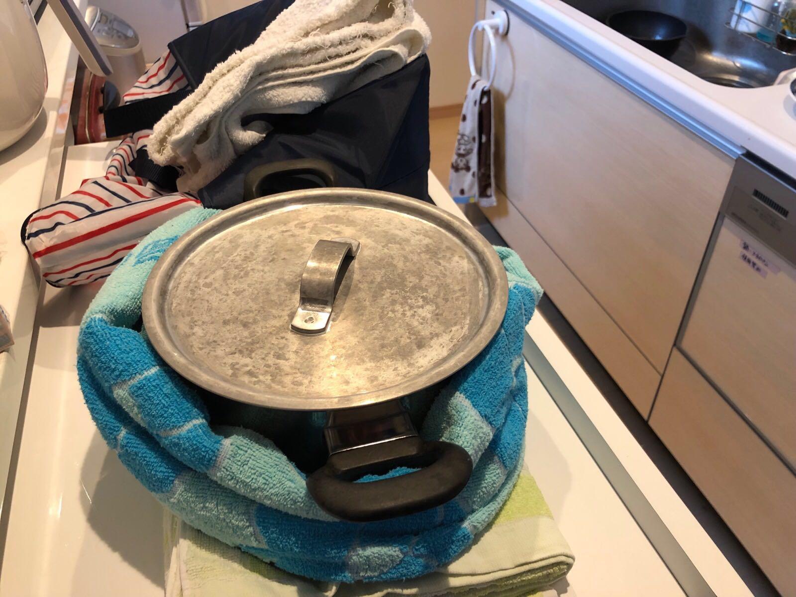 1度煮立たせた鍋