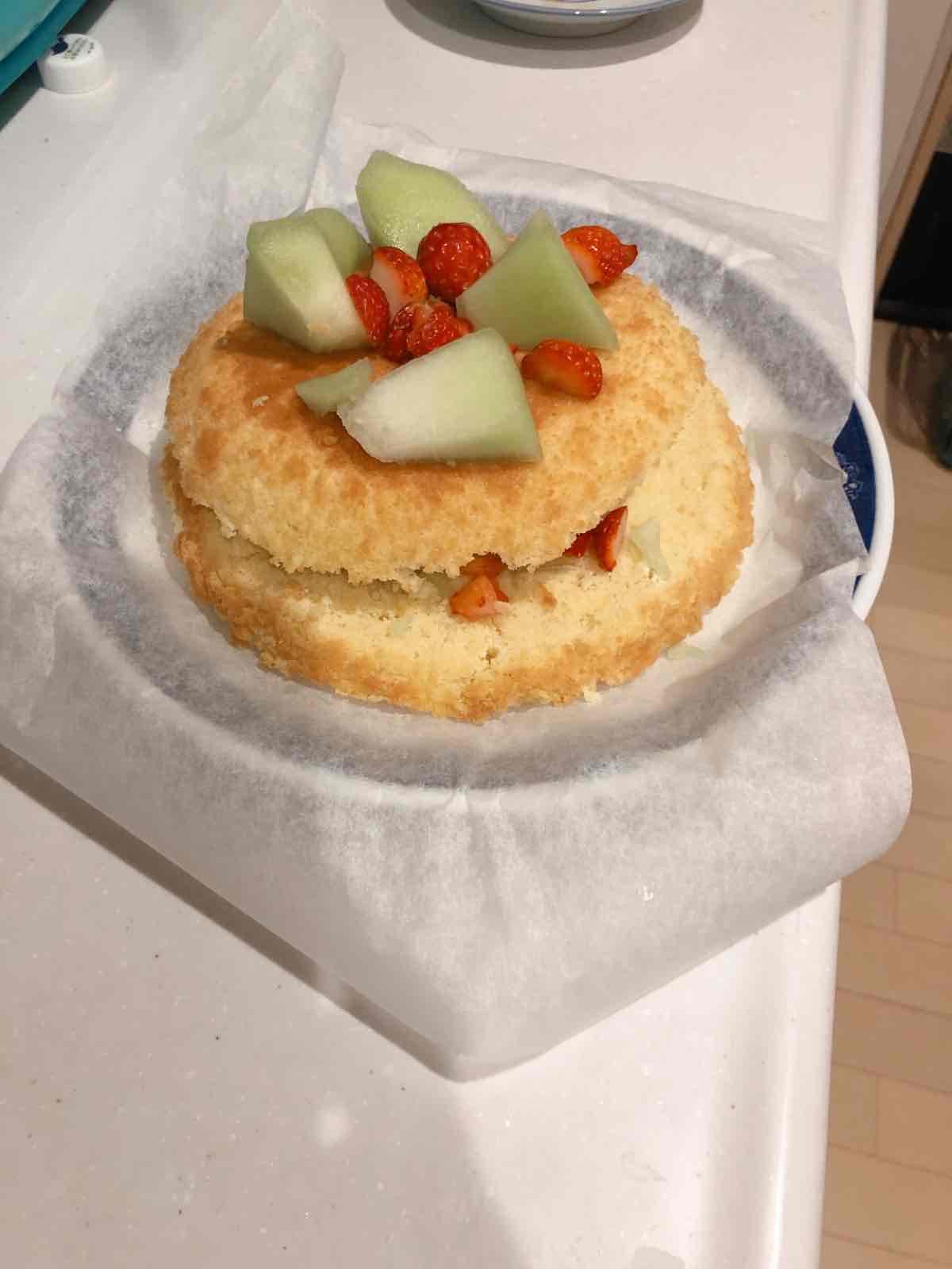 完成したケーキ